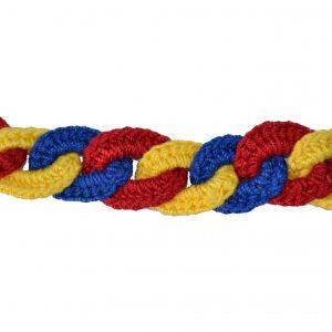 Brățară croşetată tricolor